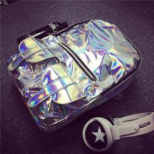 Nouveau mode sac à dos argenté Hologram PU Sport sac à main cartable femme fille