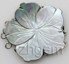 natural gray mother of pearl shell clasp 30mm Jewelry Design Repair Findings
