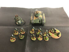Warhammer 40K Astra Militarum Chimera + Arme Lourde + 10 Soldats Pro Painted