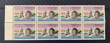 Tanzania 150th Anniversary of Mahatma Gandhi - Stamps 2x 4 Blocks