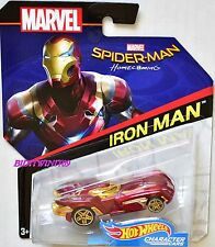 HOT WHEELS 2017 MARVEL CHARACTER CARS HOME COMING IRON MAN