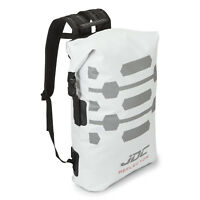 JDC Motorcycle Motorbike Rucksack 100% Waterproof Dry Bag 30L Hi-Vis - White