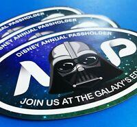 Darth Vader Black Oval Annual Passholder Car, Magnet Disney World & Disneyland