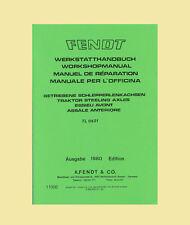 Fendt Favorit 600 LS  Werkstatthandbuch Allradachse  TL 0521 Schlepper