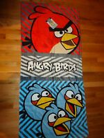 Angry Birds 100% Cotton Beach Towel Bath Towel 28X58 Rovio Free Shipping