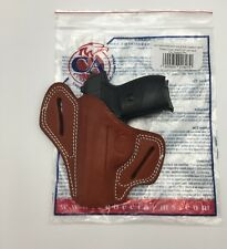 Walther PP / PPK | Cebeci Leather Pancake OWB Holster Combat Grip Left LH Brown