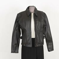 Womens Motorcycle Leather Jacket Size M Medium