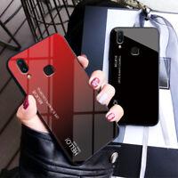 Luxury Gradient Tempered Glass Case Cover For Vivo Y93 Y85 Y79 V11 V9 V7 X23 X9S