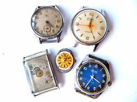 Vintage WRIST WATCHES for Parts/Steampunk, German/Swiss ca.1960s