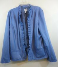 Chico's Women's Open Front Purple/Lilac Lined Jacket Size 3