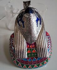 MEN'S SILVER FINISH EGYPTIAN HORUS BIRD FASHION PENDANT