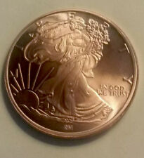 1 Walking liberty 1 Oz .999 Copper Round Coin