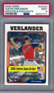 2005 Topps #UH220 Justin Verlander Detroit Tigers PSA 9 Mint