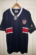 NWT Adult Small Soccer Away Jersey USA World Cup 2006 Germany Blue red white
