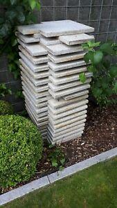 Granitplatten Terrasse 40x60x3 cm 34 ganze, 5 angeschnitten, reichen für 9 qm