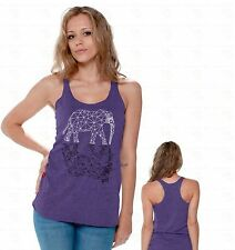 Elephant Indian Pattern Aztec Elephant Racerback TANK TOP Animal Lover Gift A1
