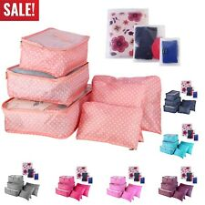 9Pcs Packing Cubes for Travel Organizer Luggage Suitcase Waterproof Organizers