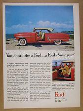 1953 Ford Victoria 2-door Hardtop red car color art vintage print Ad