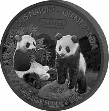 Benin 2017 5000 Francs GIANT PANDA Precious Nature Palladium White Rhodium 5oz