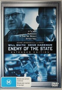 Enemy of the State DVD - Gene Hackman - Will Smith - Free Post