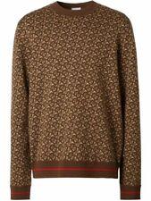Burberry Burberry monogram Merino wool jacquard sweater Size S
