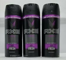 LOT OF 3-Axe Men Deodorant Body Spray
