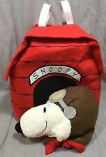 NWT POTTERY BARN KIDS PEANUTS 3D SNOOPY DOG HOUSE 3T & SNOOPY PUMPKIN TREAT BAG