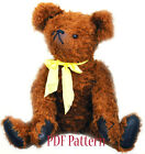 PDF Sewing Pattern Antique Bull Teddy Bear 21 inch (53cm) KOZLOVA Artist design