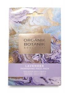 Organik Botanik Australian Lavender Pamper Pack Hair Mask Face Mask & Scrub Lot