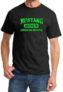 2013 Ford Mustang American Muscle Car Color Design Tshirt NEW Free Ship