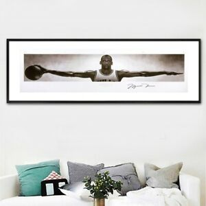 Michael Jordan BasketBall Star Classic Action Figure Canvas Poster free shipping