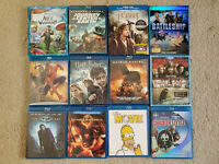 Lot of 12 Blu Ray Movies Drama Romance Family Comedy Adventure Action Fantasy