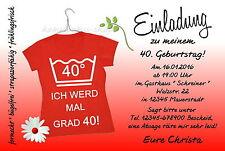 40 lustige Einladungskarten Party Geburtstag Einladungen JEDES ALTER 50 60 70