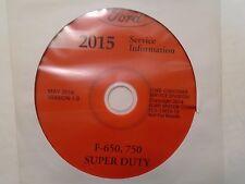 2015 Ford F650 F750 F-650 Truck Workshop Service Shop Repair Manual ON CD NEW