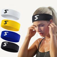 Fitness Headband Sports Sweat Band Polyester Cotton Hair Bands Elastic Sweatband