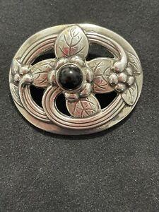 Georg Jensen Vintage Silver Brooch w/ Lapis Lazuli - #138