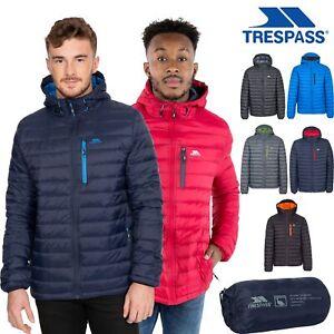 Trespass Mens Down Jacket Hood Padded Packaway Outdoor Winter Coat Digby