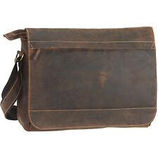 Greenburry Vintage I Messenger Aktentasche Schultertasche Leder 36 cm (brown)