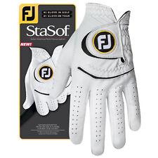 FootJoy Mens StaSof Left Hand Golf Glove - New FJ Logo Leather Right Handed MLH