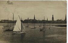 AK, Riga, 1917, Segelschiffe, Lettland,Panorama, Petrikirche, Dom, Jakobuskirche
