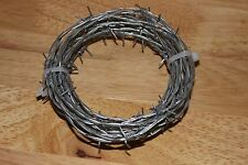 20 FEET BARB WIRE, BARBED WIRE NEW BEKAERT 18 GAUGE 4 POINT CRAFTS MADE IN USA