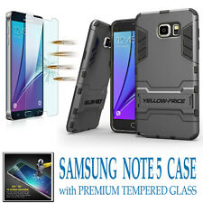 For Samsung Galaxy S5 S6 S7 Edge Plus Note 4 5 Shockproof KickStand Case + Films