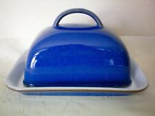 Denby Imperial Blue Covered Lidded Butter Dish Excellent Condition ref (C)