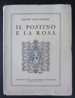 1930 IL POSTINO E LA ROSA Luigi Gerbore autografo Valle Gran san Bernardo Aosta