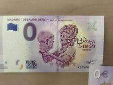 0 Euro Madame Tussauds Berlin XEEV 2019-1  Souvenirschein 0€ Geldschein Banknote