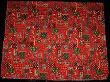 "1.7 + Yds Vintage Cotton Blend Red Bandanna Print Fabric 64"" x 43"" Novelty"