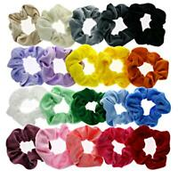 20pcs Colorful Velvet Elastic Hair Bands Scrunchies Scrunchy Women Girls AU