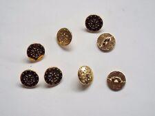 10pc 13 mm Bright Gold Metal Shirt Knitwear Cardigan Boucle Bouton Retour 0497