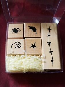CLOSE TO MY HEART:  MOUNTED RUBBER STAMPS:  HALLOWEEN DINGBATS NEW/ OPEN
