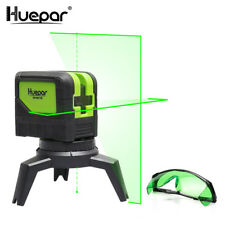 Huepar Vert Faisceau Laser Niveau 2 Croix Lignes 2 Points Professionnel 180 Degr